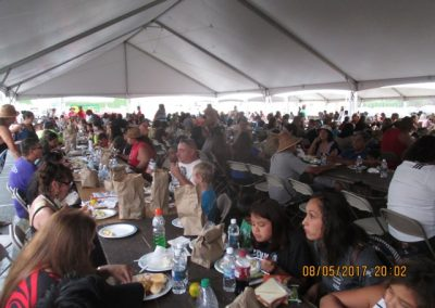 Some of the 7000+ visitors at the big feast, Campbell River