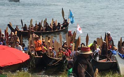 Tribal Journeys in K'omoks, August 3, 2017
